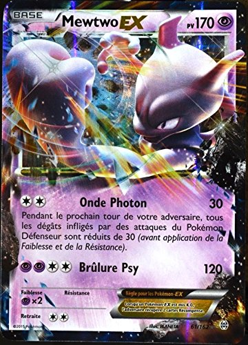 Pokémon Karte 61/162 tolle Mewtu-EX HOLO REVERSE 170 PV-Reihe XY IMPULSON XY8 TURBO-selten Neu DE (Mega Seltene Pokemon Karten)