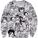 Cowesoo Lustige Anime Ahegao Unisex Sweatshirt Gesicht schüchterne Mädchen Sexy Harajuku Hoodies