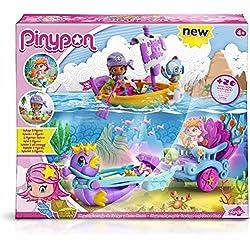 Pinypon - Carruaje de sirenas y bote pirata.