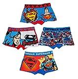 DC Superman Unterwäsche Boxer Shorts für Jungen 4er Set (6/8 Jahre)