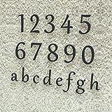 Colours-Manufaktur Hausnummer Klassisch 0-9 und a-h *Made in Germany* Viele Verschiedene Farben und Größen wählbar (20 cm, RAL 7016 Anthrazitgrau [Grau Anthrazit] glänzend)