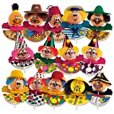 15 Lustige Karnevalseinstecker, gross