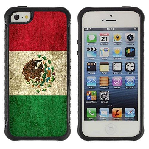 Graphic4You Vintage Uralt Flagge Von Dominikanische Republik Design Harte Hülle Case Tasche Schutzhülle für Apple iPhone 5 und 5S Drapeau Mexicain Mexique