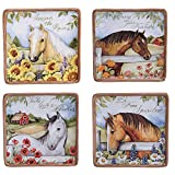 "Certified International Heartland Canape Plates (Set of 4), 6"", Multicolor"