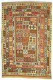 Nain Trading Kelim Afghan 296x196 Orientteppich Teppich Beige/Braun Handgewebt Afghanistan