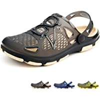 beister Mens Clogs Non Slip Water Shoes with Adjustable Strap, Lightweight Slip on Mules Garden Kitchen Outdoor Beach…