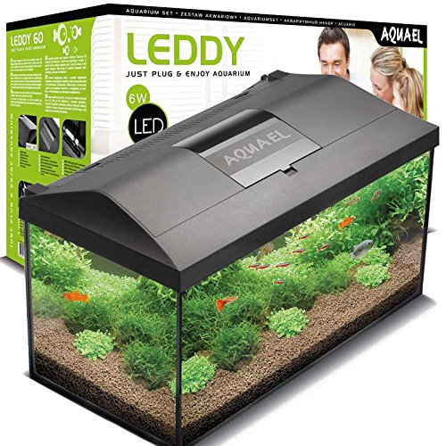 25 Aquarium Cube (Aquael 5905546192163 Aquarium Set Leddy Led 40, 25 Liter Komplett Aquarium Mit Moderner Led Technik)