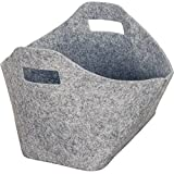 MC Trend Cestino in feltro feltro cesto ovale feltro grigio, grau, 1