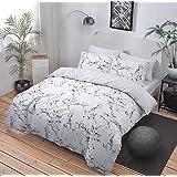 Nuevo de funda de edredón juego de cama: mármol gris individual, doble y King Size, matrimonio