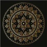Cuadro sobre lienzo 70 x 70 cm: Mandala on black de Colourbox - cuadro terminado, cuadro sobre bastidor, lámina terminada sobre lienzo auténtico, impresión en lienzo