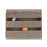 Gato Juguete MW Cat Scratch Board Cat Scratcher Ven con 2 bolas de campana, Cat Scratch Board con diseño de prisma triangular, Satisface los instintos naturales de rascado de Cat, Guarda tus muebles, Hecho de material ecológico Tamaño del material 11 * 9.4 * 7.1 pulgadas