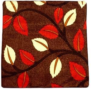 Inde Housse de coussin 30x30 décoration, design Extravaganza bambou de zèbre motifs et les feuilles, brun, canapé rouge et crème et le lit, la main au Cachemire-Inde.