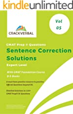 Solutions to GMAT Prep  Sentence Correction Questions with GMAT Foundation Course and E- Books (Volum 5 : Expert Level)