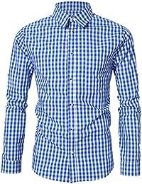 KoJooin Trachtenhemd Herren Hemd Slim fit Langarmhemd Freizeithemd für Oktoberfest Freizeit Baumwolle