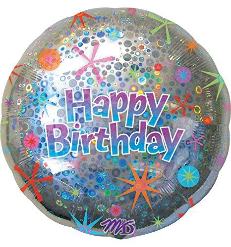 l Holographisches Kreise Geburtstag Ballon, 81,3cm Multicolor ()