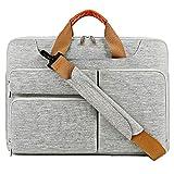 Lacdo Laptop Umhängetasche 360° Schutzhülle Tasche Tragetasche 15.6 Inches grau