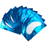 50 Paire Patchs Pour Extensions de Cils Gel Patch de Cils Gel Patch Non Pelucheux Gel Yeux Patchs Cils Pad Eye Masque Beauté Outil (Bleu)