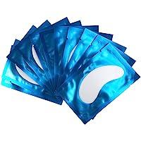 50 Paire Patchs Pour Extensions de Cils Gel Patch de Cils Gel Patch Non Pelucheux Gel Yeux Patchs Cils Pad Eye Masque Beauté Outil (Bleu)