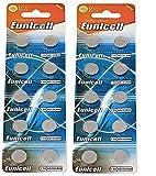 Eunicell AG13 / LR44 / L1154 / 357 / A76 / SR44 / G13 Knopfzelle, 20 Stück