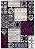 Carpeto Rugs Tapis Salon Violet 180 x 250 cm Oriental/Dijon Collection