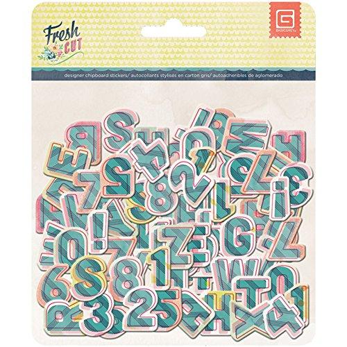 Basic Grey Fresh Cut Printed Chipboard, Alphabet by BasicGrey -