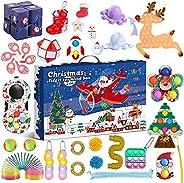 27Pcs Fidget Toys Set Christmas Fidget Advent Calendar Pop Toys Pack for Kids Cheap Sensory Fidget Toy Pack wi