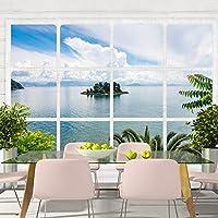 murando - Fotomural 300x210 cm - Papel tejido-no tejido - Papel pintado - ventana paisajes naturaleza ventana c-a-0072-a-b