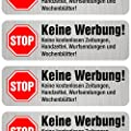 8 Keine Werbung Aufkleber, einzeln abziehbar, in Vinyl, Stop Briefkastenwerbung