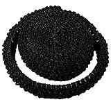 RUSPEPA Tissu Stretch Élastique De 4 Cm De Large, Tube Supérieur Au Crochet pour Bandeaux/Ceintures/Drees Tutu - 4,5 M/Rouleau (Noir)