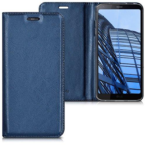 kwmobile Hülle für LG G6 - Flipcover Case Handy Schutzhülle Kunstleder - Bookstyle Flip Cover Dunkelblau
