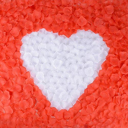 2000 pz petali fiori di rosa rosso bianco artificiale confetti decor per vetrine servizi fotografici layout di scena nozze festa matrimonio