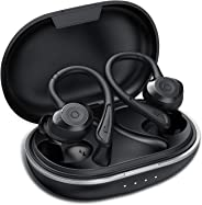 Muzili Bluetooth hoofdtelefoon Sport IPX7 waterdicht sport hoofdtelefoon draadloze in-ear 36 uur speeltijd HiFi Bluetooth 5.