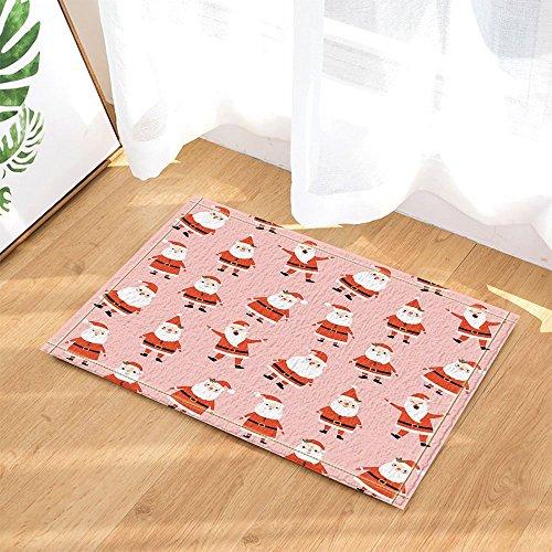 gohebe Kids Decor Cute Happy Santa Claus in pink für Weihnachten Bad Teppiche rutschhemmend Fußmatte Boden Eingänge Innen vorne Fußmatte Kinder Badematte 39,9x 59,9cm Badezimmer Zubehör