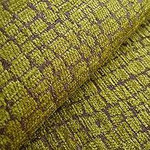 Mobberley 'pistacho patrón': verde tapicería chenilla sofá cojín tela retardante de llama Material de telas Loome, Mobberley 'Pistachio Pattern' : Green, 10 x 14 cm sample