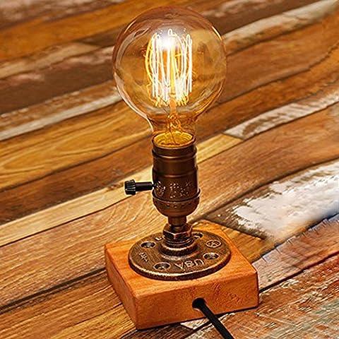 Retro lampada illuminazione industria personalità nostalgico Edison tubo lampada da tavolo . 2