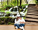 selbstklebende Fototapete - Wasserfall in Plitvice, Kroatien - 300x200 cm - Tapete mit Kleber – Wandtapete – Poster – Dekoration – Wandbild – Wandposter – Wand – Fotofolie – Bild – Wandbilder - Wanddeko