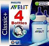 4x Philips Avent Classic 260ml/266ml Flaschen Blau–Anti-Colic + BPA-frei