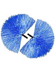COM-FOUR® 2x Cheerleader PomPom in blau