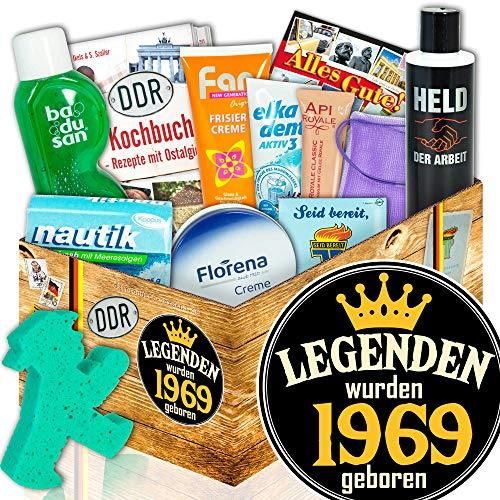 Geschenk Pflegeset DDR / Zum 50. Geburtstag Geschenkset / Legenden 1969