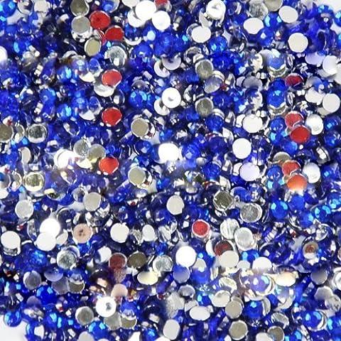 BF Nuovo 20, 000pcs gemme di cristallo piatto indietro acrilico strass 2mm per Nail Art suggerimenti disegni blu profondo 11
