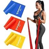 Haquno elastico fitness (3 pezzi)1.5M /1.8M /2M,con 3 livelli di resistenza, è ideale per yoga, pilates, allenamento di…