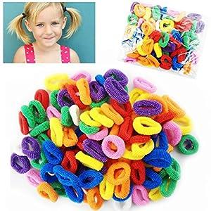 Kanddit, confezione di mini elastici per capelli, per bambine, per creare infinite code di cavallo, set da 100 pezzi
