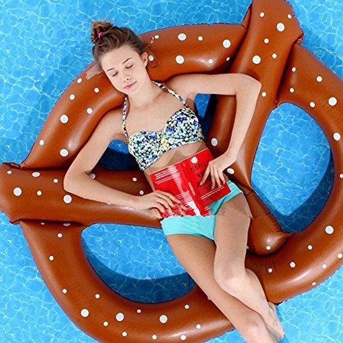 Riesiges Aufblasbares Brezel Pool Floß Spielzeug Schwimmring Luftmatratzen 150*140*15cm Pusheng