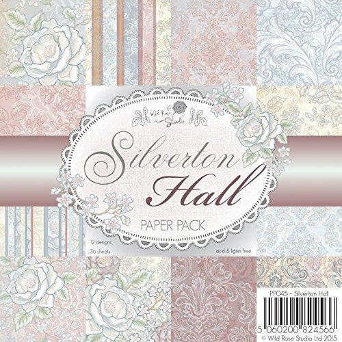 Wild Rose Studio 15,2x 15,2cm Papier Pack, Silverton Hall Hall Rose
