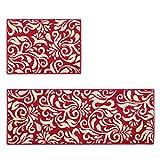 FLH Set di tappetino del corridore del portello del tappetino della cucina di 2 pezzi, tappeto della moquette del bagno (formato: 45x60CM + 45x120CM) zerbini ( Colore : A )