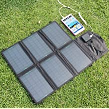 Generic 18W : PORTABLE foldable solar panel charger 18W/21W/26W/28W with dual output 18V 5V for laptop and USB devices