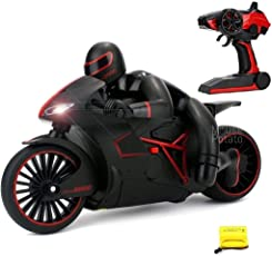 MousePotato High Speed Sports Bike Rechargeable Motorcycle with 2.4 GHz Remote Control & LED Headlights (RED)