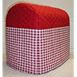 Quilted Checked Kitchen Aid Tilt Head Stand Mixer Cover (Red)