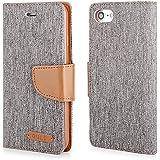 """Stylisches Bookstyle Handytasche Flip Case grau-braun für """"Apple Iphone 7 Plus 5,5 Zoll"""" Handy Tasche Schutz Hülle Etui Schale Cover Book Case Wallet"""