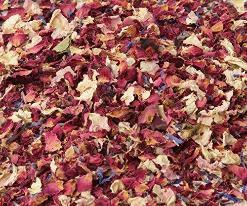 Se venden en bolsas de 1 L. Confeti de pétalos naturales. Ideal para usar como confeti de boda, decoraciones de mesa, mezclas hecha a mano y proyectos de manualidades. 100 % natural, biodegradable confeti de boda. Pétalos de forma natural secada al a...